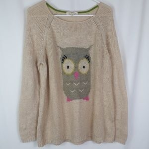 *SALE* Rewind Knit Beige Sweater Cute Owl Size XXL
